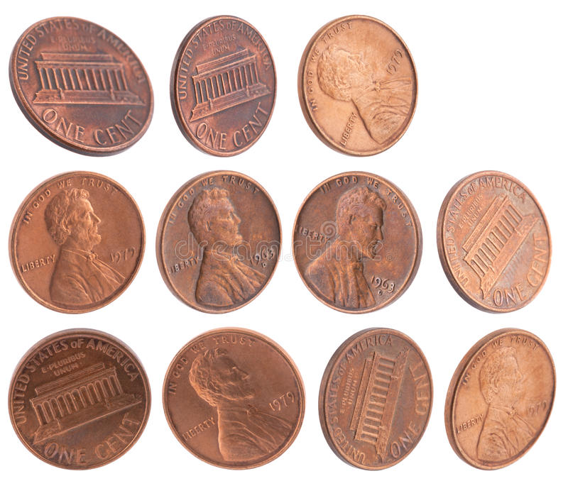 Amerikanische Cents stockfotos