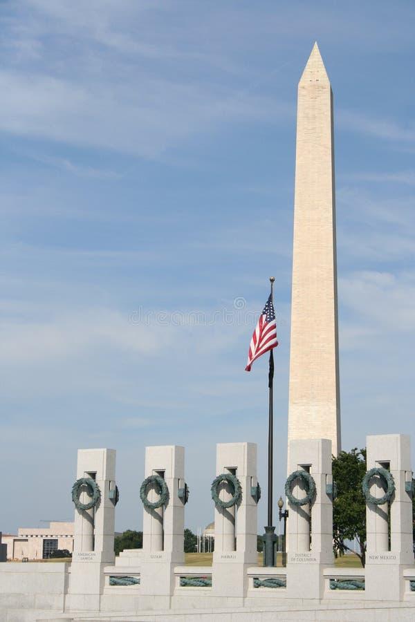 Amerikanische Denkmäler Stockfotos