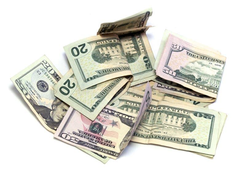 Amerikanische Dollar USDs auf Weiß stockfotos