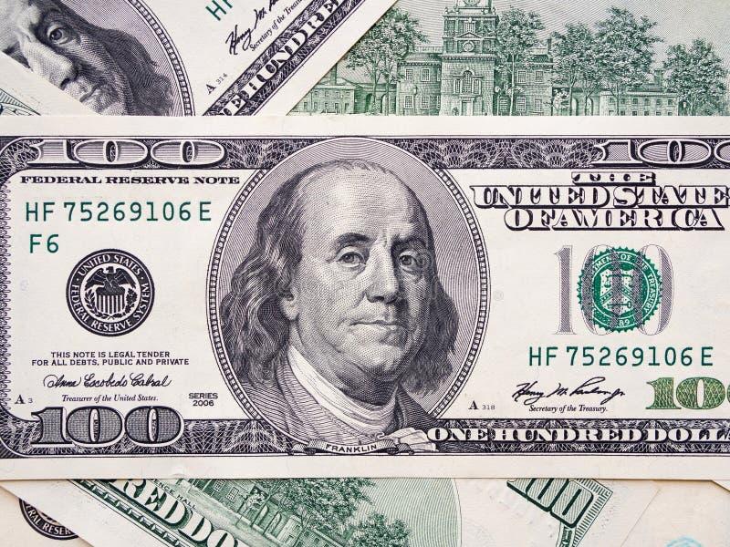 Amerikanische Dollarbanknote der Nahaufnahme Hundert Dollarbanknote lizenzfreie stockfotografie