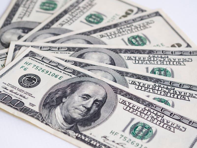 Amerikanische Dollarbanknote der Nahaufnahme Hundert Dollarbanknote lizenzfreie stockbilder