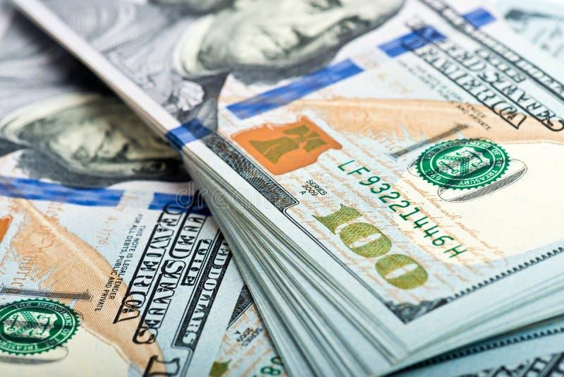 Amerikanische Dollarscheine des Geldes lizenzfreies stockfoto