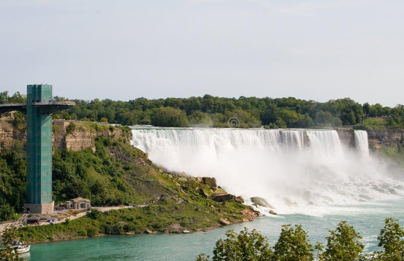 Amerikanische Fälle von Niagara Falls stockfotos