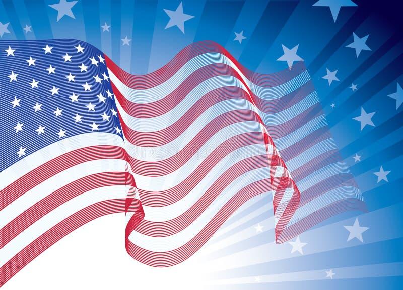 Amerikanische Flagge stock abbildung