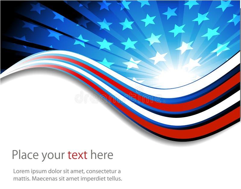 Amerikanische Flagge, abstrakter Hintergrund von stock abbildung