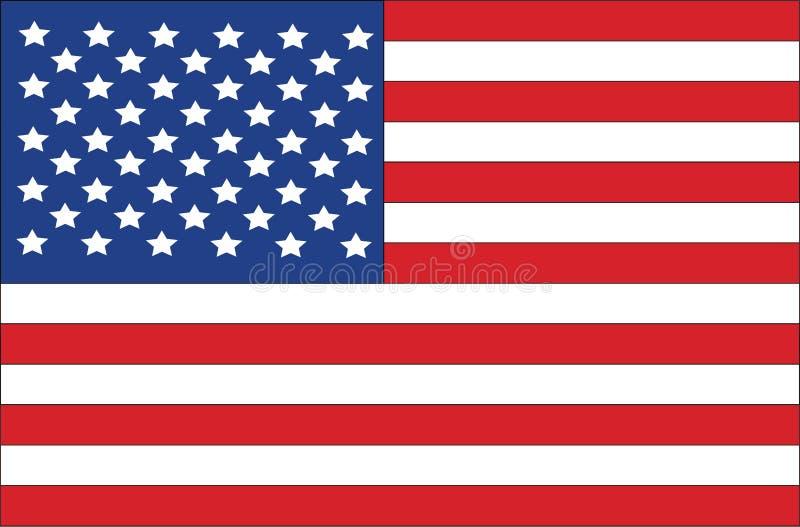 Amerikanische Flagge der Vereinigten Staaten lizenzfreies stockbild