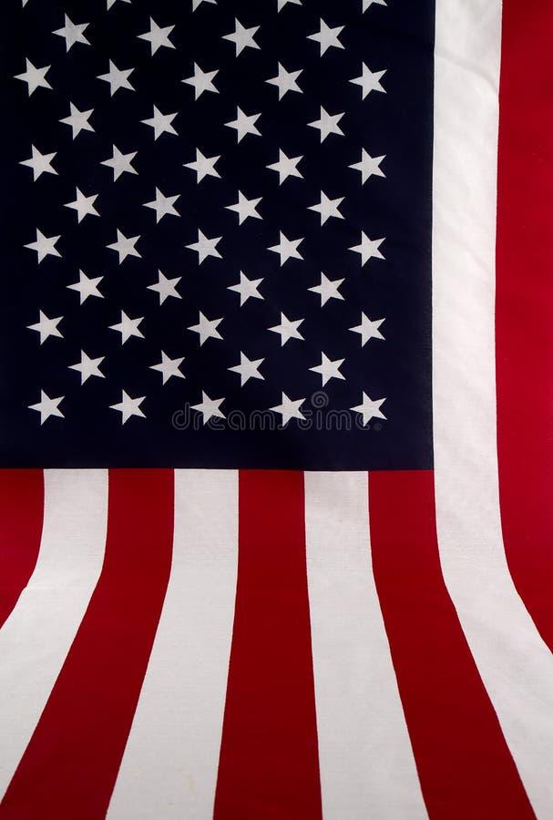 Amerikanische Flagge heraus ausgebreitet lizenzfreies stockbild
