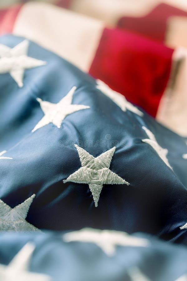 Amerikanische Flagge Indicateur des Etats-Unis Abstrakter Perspektivenhintergrund von stri lizenzfreie stockbilder