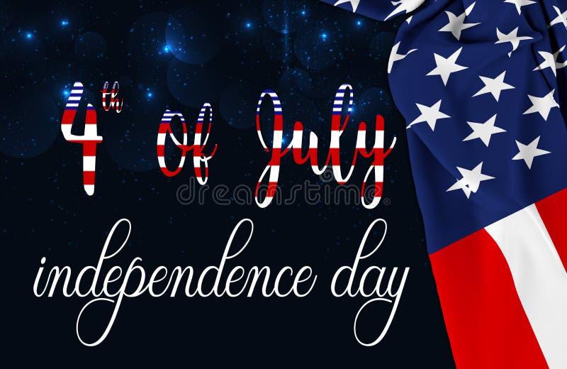 Amerikanische Flagge Memorial Day oder 4. von Juli lizenzfreie abbildung