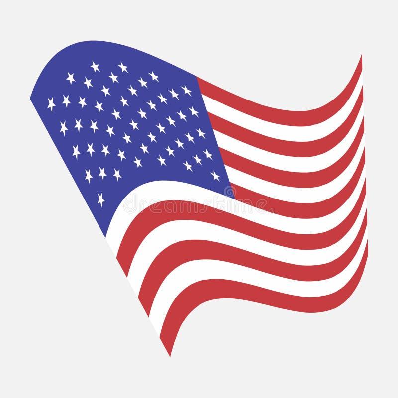 Amerikanische Flagge Vektorbild von den Vereinigten Staaten von Amerika vektor abbildung