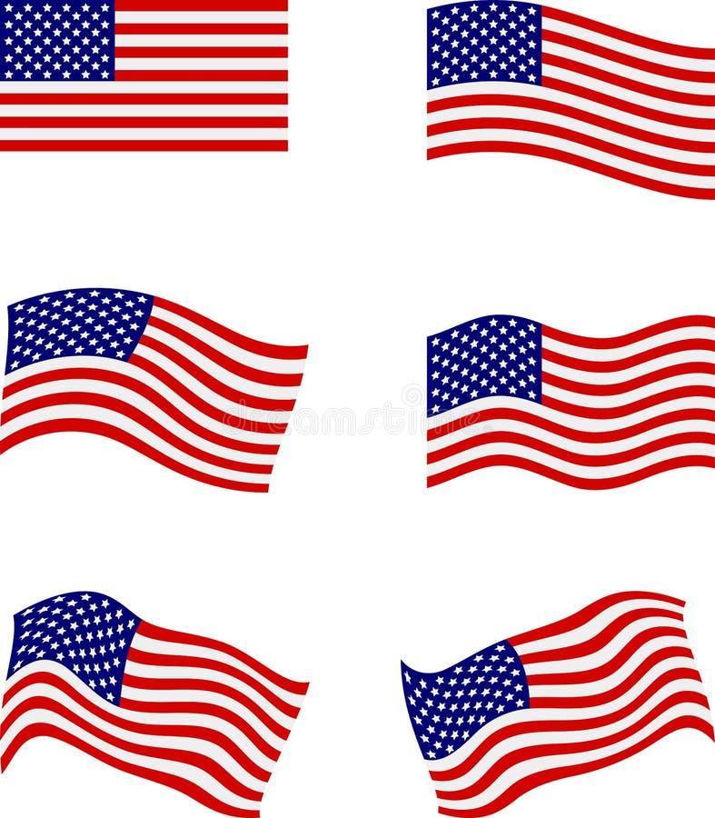 Amerikanische Flaggen vektor abbildung