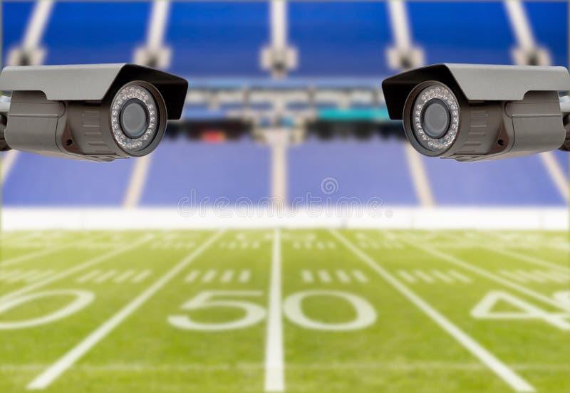 Amerikanische fotball Stadionssicherheit lizenzfreie stockfotografie