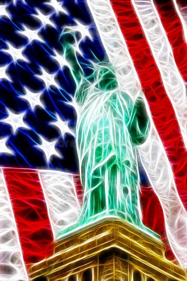 Amerikanische Freiheitszusammenfassung lizenzfreie abbildung