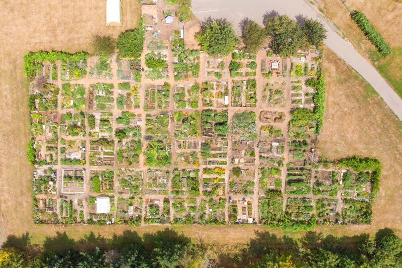Amerikanische Gemüsegärten, kleine landwirtschaftliche Flächen in den Vereinigten Staaten lizenzfreie stockfotos