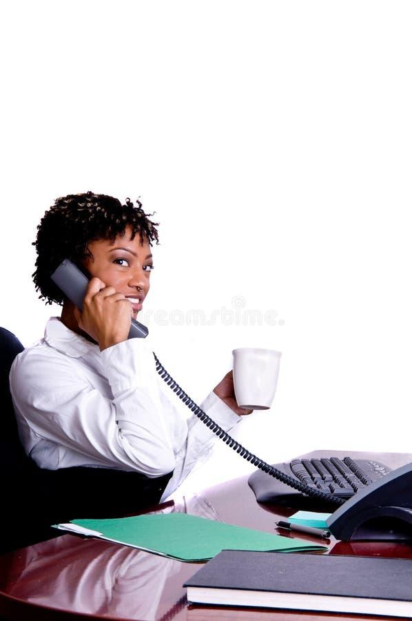 Amerikanische Geschäftsfrau stockfoto