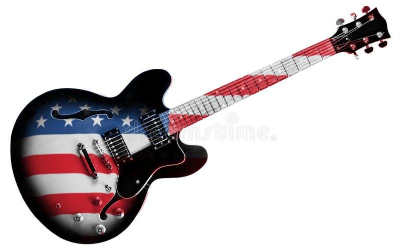 Amerikanische Gitarre lizenzfreie stockfotos