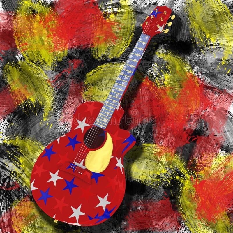 Amerikanische Gitarre lizenzfreie stockfotografie