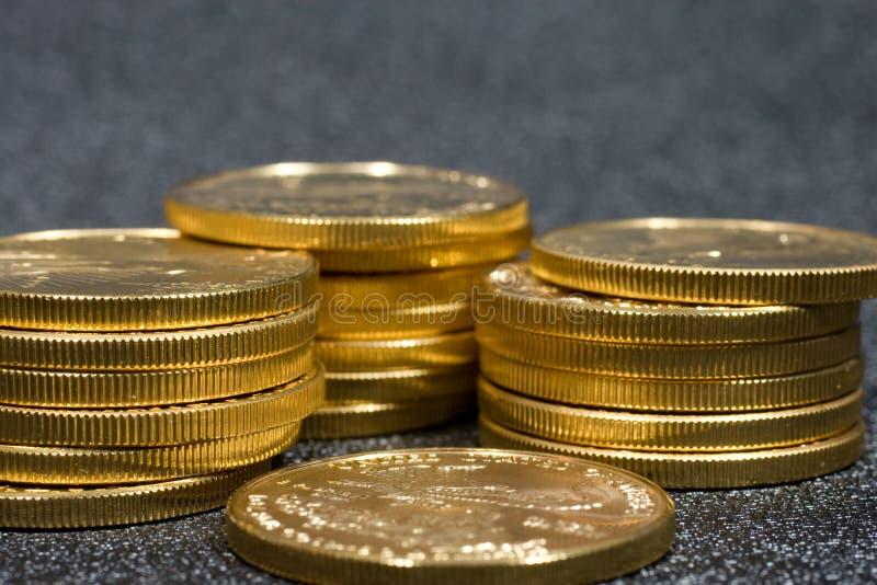 Amerikanische Goldadlermünzen stockfoto