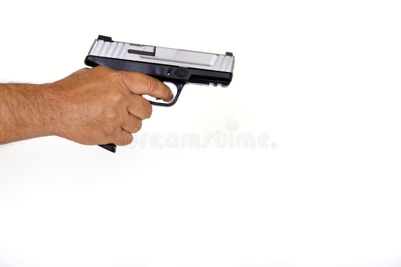 Amerikanische hergestellte halbautomatische Faustfeuerwaffe lizenzfreies stockfoto