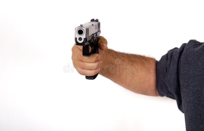 Amerikanische hergestellte halbautomatische Faustfeuerwaffe stockbild