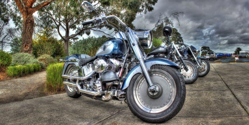 Amerikanische hergestellte Harley Davidson-Motorräder stockbild