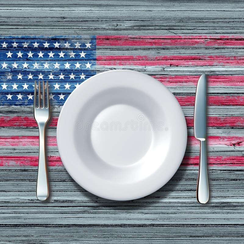 Amerikanische Küche stock abbildung