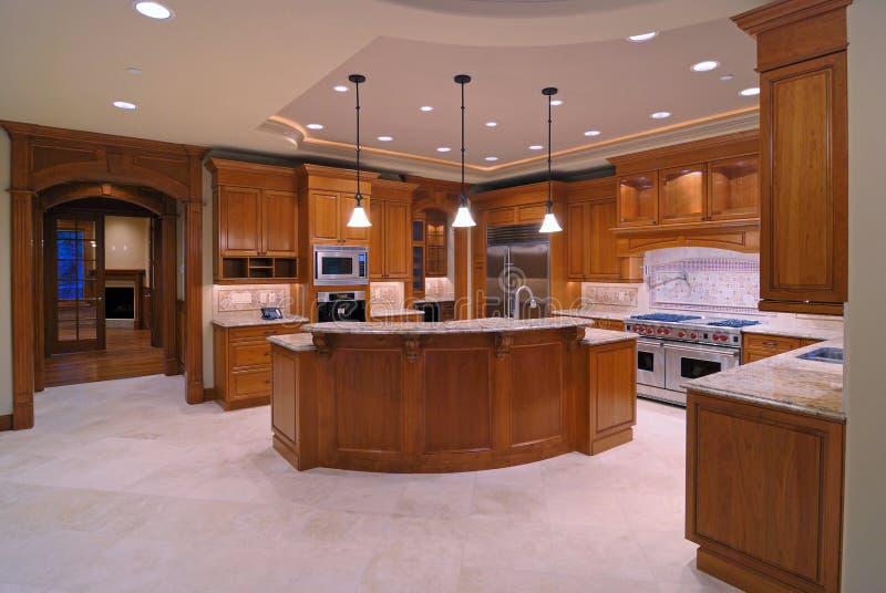 amerikanische küchen stockfoto bild von hartholz decke