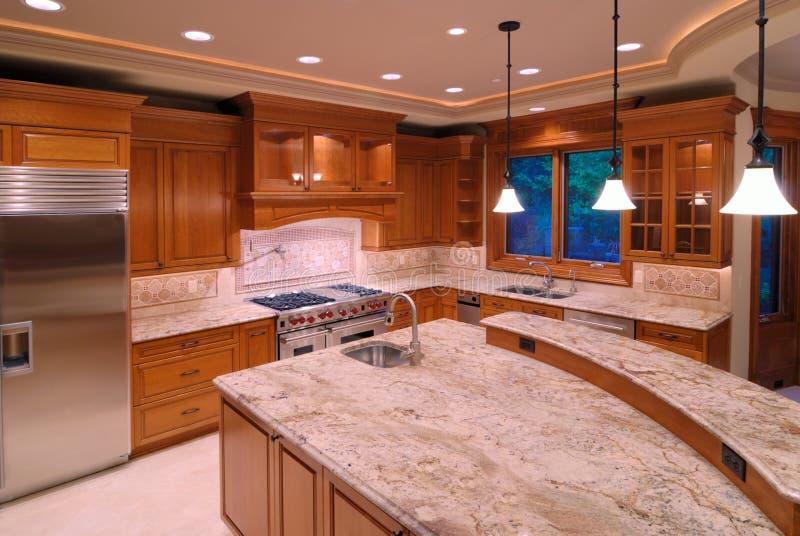 Amerikanische Küchen Stockbild. Bild Von Luxus, Groß, Hartholz