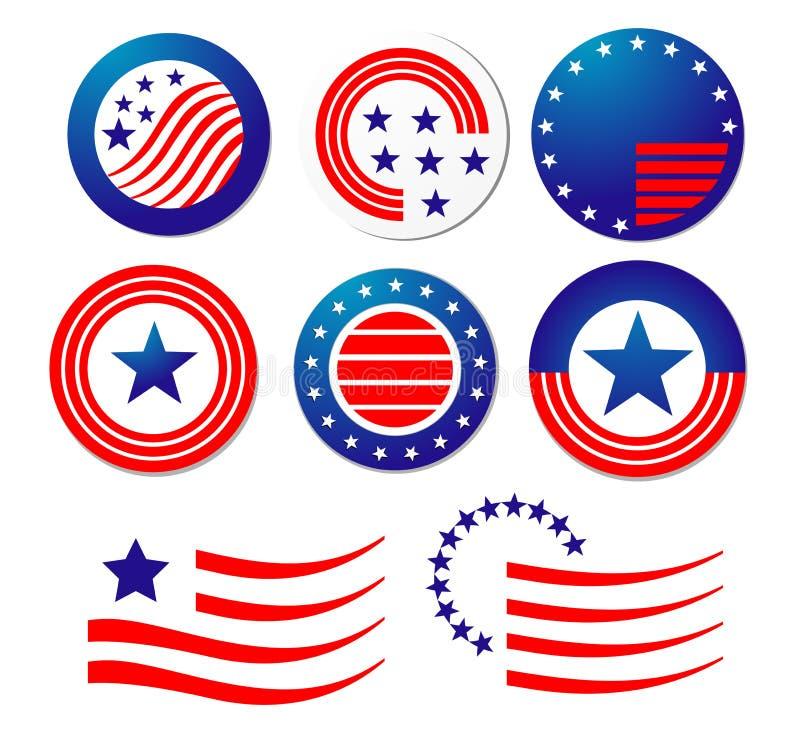 Amerikanische patriotische Symbole lizenzfreie abbildung
