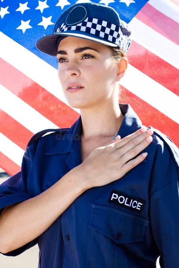 Amerikanische Polizeibeamtin lizenzfreie stockbilder