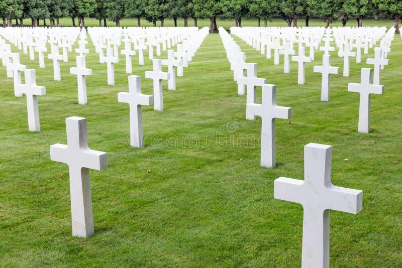 Amerikanische Soldaten des Kirchhofs WW1, die am Kampf von Verdun starben stockfotografie
