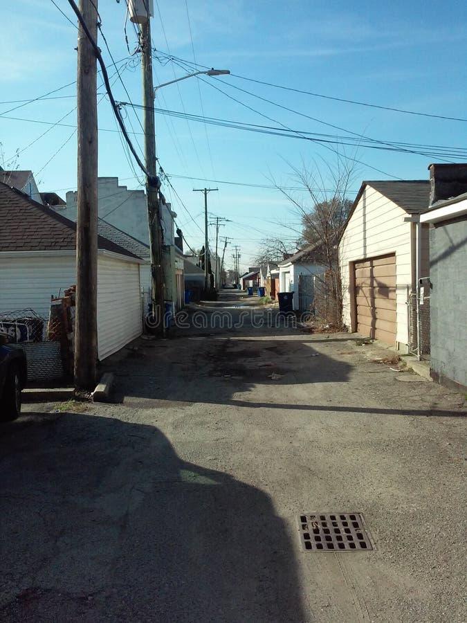 Amerikanische Stadtstruktur stockfotos