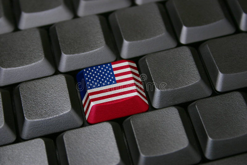 Amerikanische Technologie stockfoto