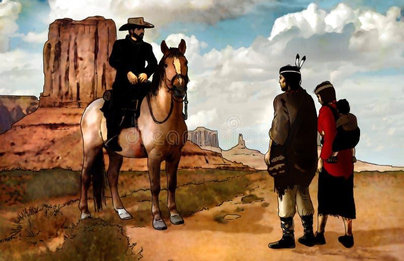 Amerikanische Ureinwohner lizenzfreie abbildung