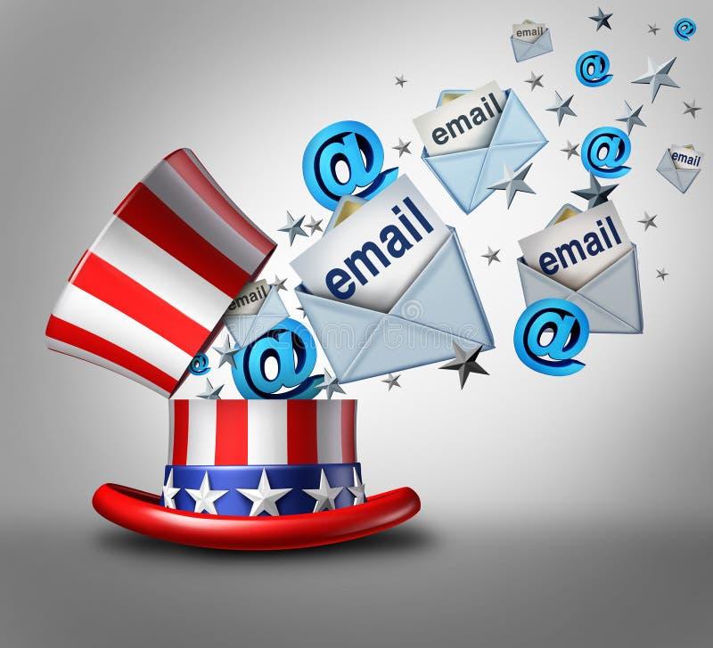 Amerikanische Wahl-E-Mail-Krise stock abbildung