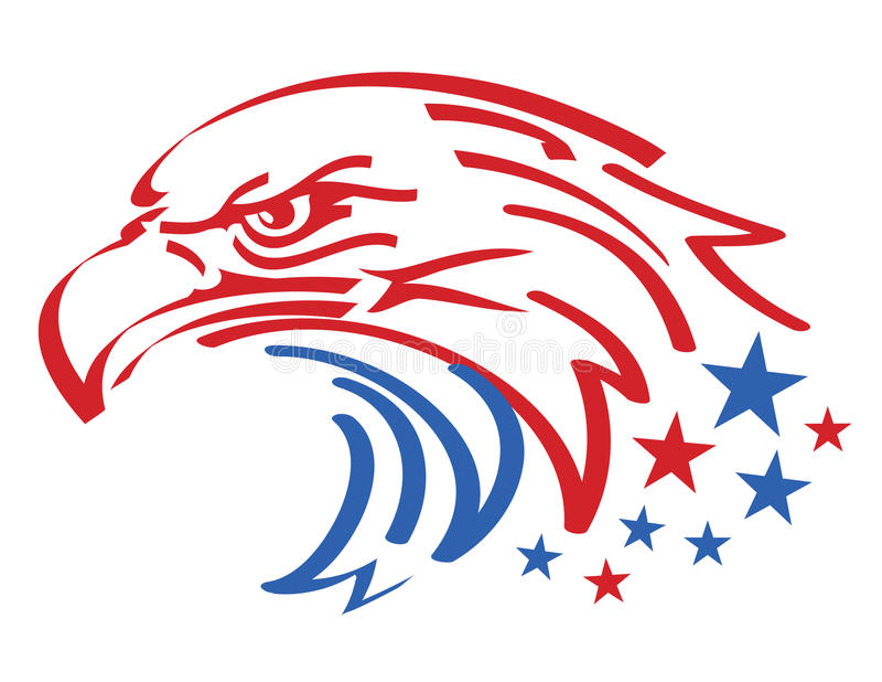Amerikanischer Adler lizenzfreie abbildung