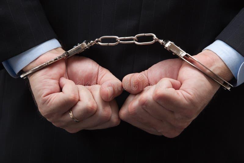 Amerikanischer Banker/Büroverbrechen stockbild