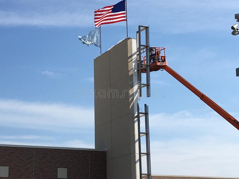 Amerikanischer Bau stockbilder