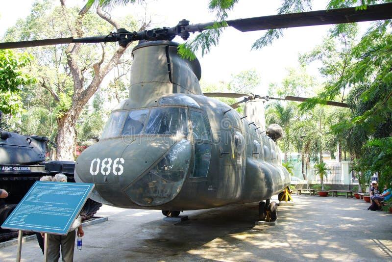 Amerikanischer CH-47 Chinook Hubschrauber stockbild