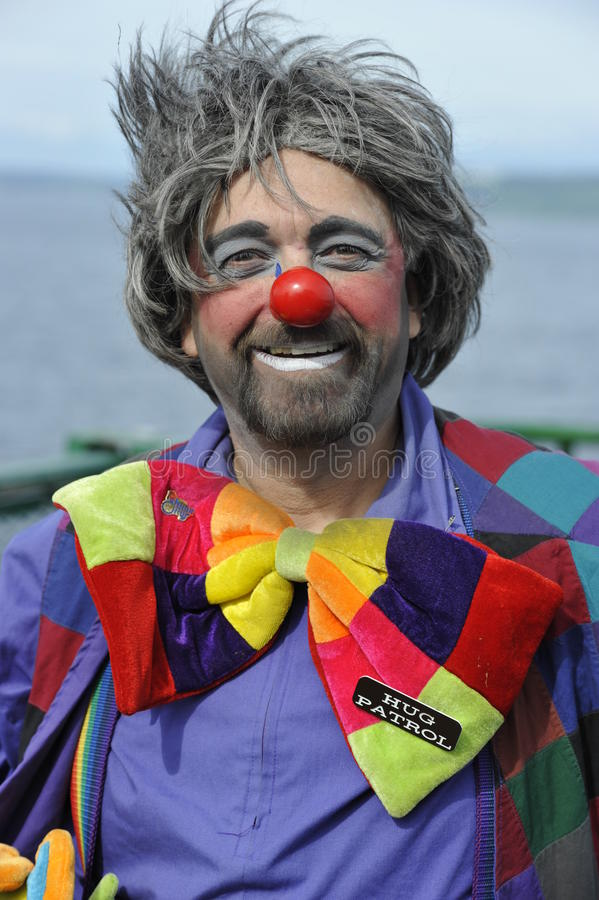 Amerikanischer Clown stockfotos