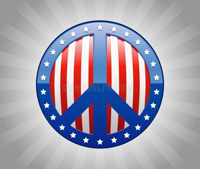 Amerikanischer Frieden lizenzfreie abbildung