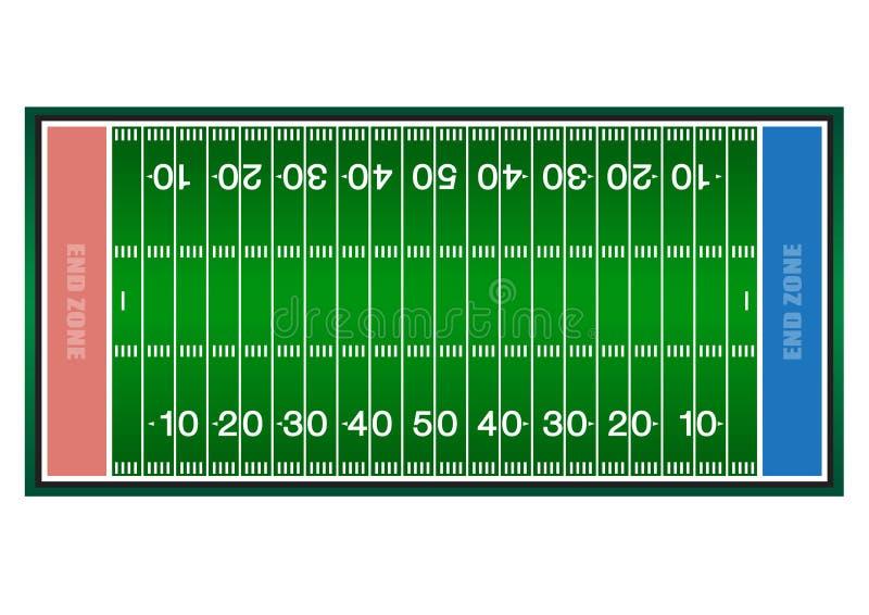 Amerikanischer Fußball des Herausforderungsfeldes grüne Stadionsarena lizenzfreies stockbild