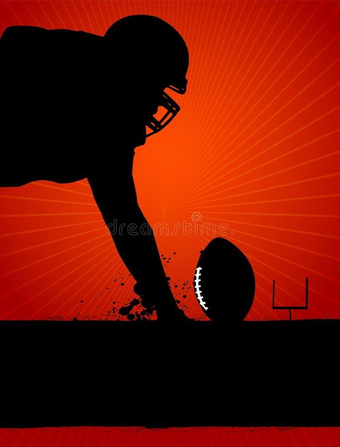 Amerikanischer Fußball-Plakat lizenzfreie abbildung