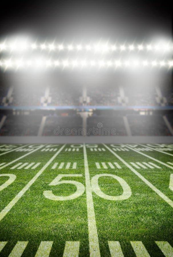 Amerikanischer Fußball-Stadion lizenzfreies stockbild