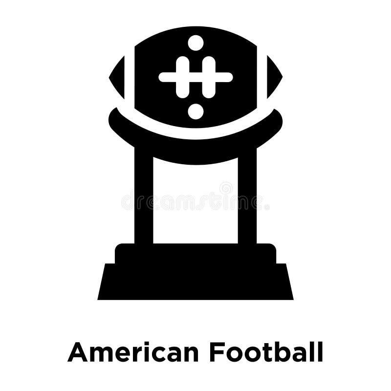 Amerikanischer Fußball-T-Stück Ikonenvektor lokalisiert auf weißem Hintergrund, vektor abbildung