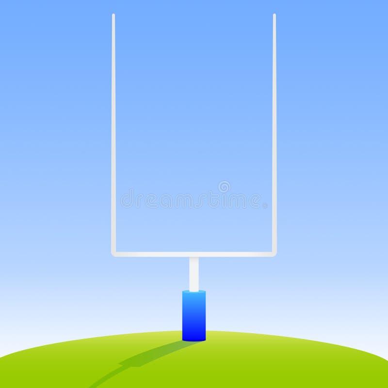 Amerikanischer Fußball-Torpfosten lizenzfreie abbildung