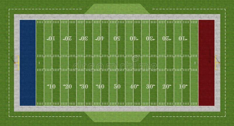Amerikanischer Fußballplatz stock abbildung