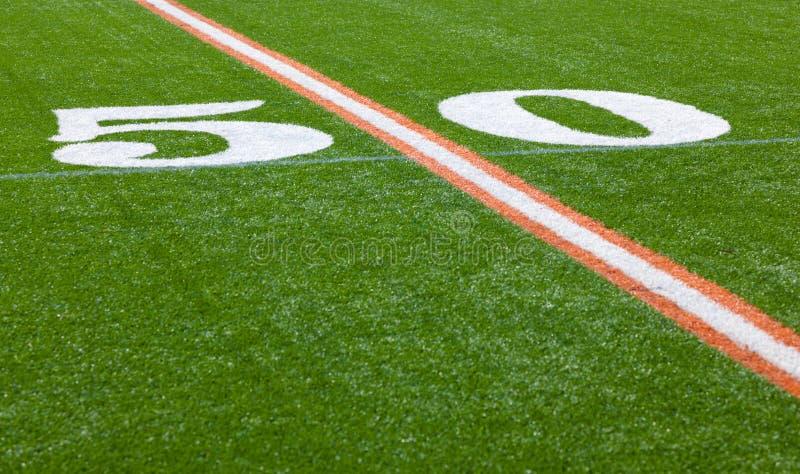Download Amerikanischer Fußballplatz - Yard-Line 50 Stockbild - Bild von saisonal, spiel: 26366863