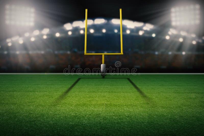 Amerikanischer Fußballplatzzielbeitrag lizenzfreie abbildung