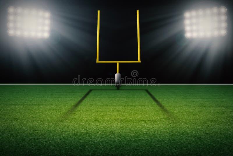 Amerikanischer Fußballplatzzielbeitrag stock abbildung